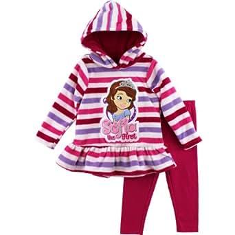 "Disney Sofia The First ""Princess"" Pink Girls Fleece Hoodie & Pants Set (6)"
