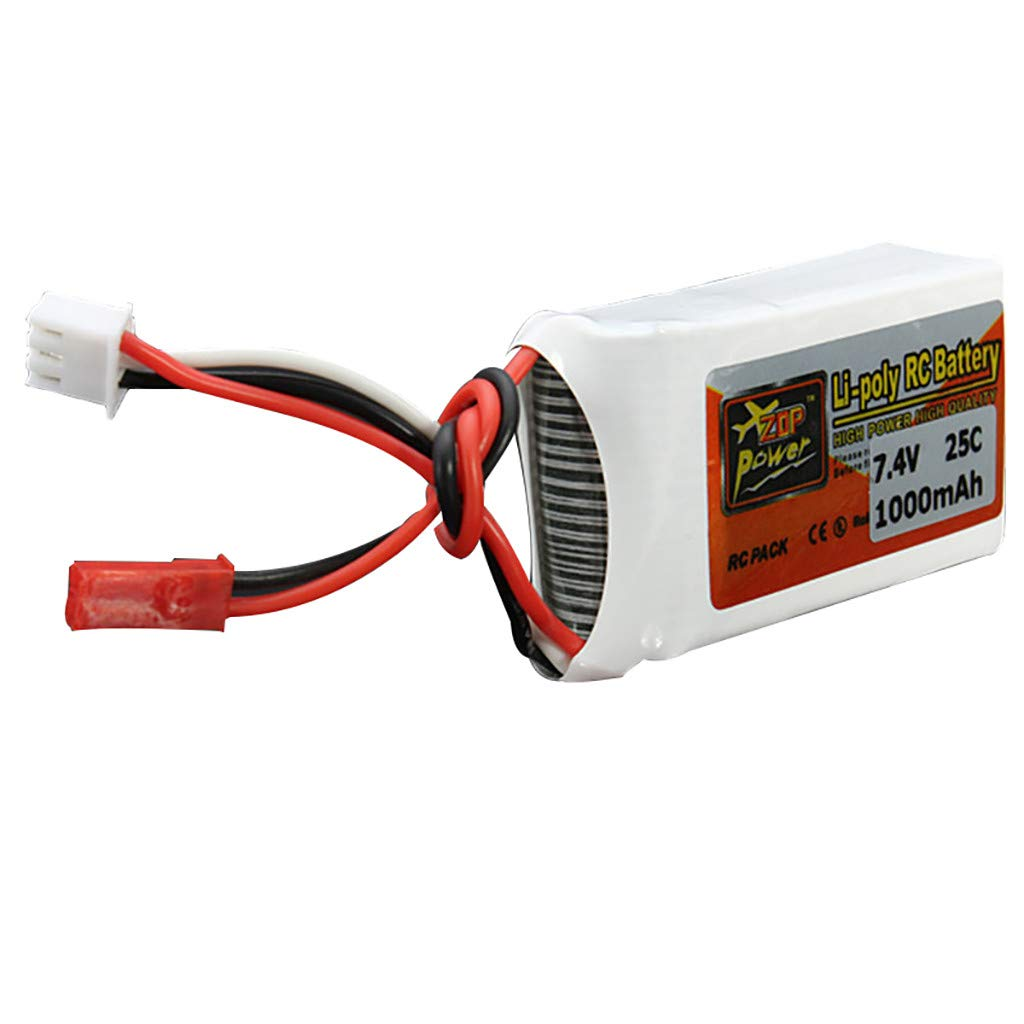 7,4 V 1000 mAh 25 C 2S batería JST Conector para dron FPV ...