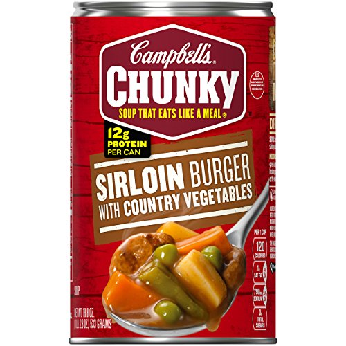 Campbell's Chunky Sirloin Burger with Country Vegetables Soup, 18.8 oz. Can (Pack of 12) ()