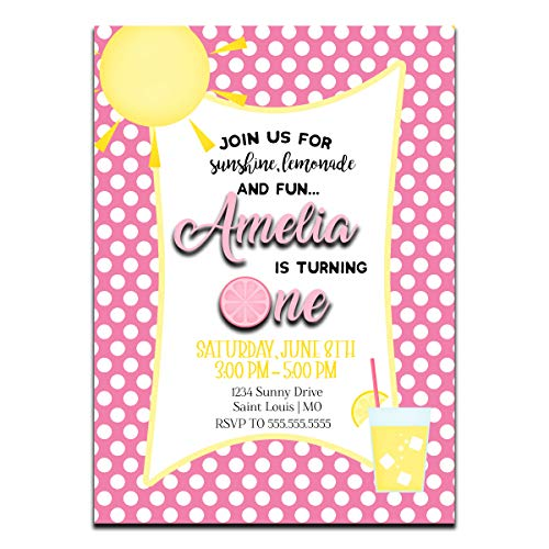 Sunshine and Lemonade | Birthday Party Invitation | Personalized