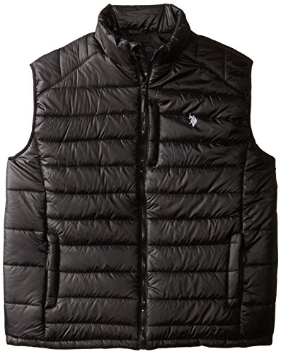 U.S. Polo Assn. Men's Small Channel Quilt Puffer Vest, Black, - Men For Polo Big Vest Pony