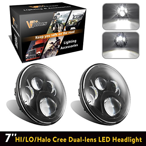 """Used, 2PCS 7"""" Inch Round LED Headlights Daymaker Bulb With for sale  Delivered anywhere in USA"""
