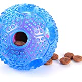 smartelf Treat Dispensing Dog Toys Puzzle Interactive IQ Treat Ball Puppy Food Feeder Toy for Dogs & Cats: Increases IQ and Mental Stimulation - Blue
