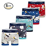 Gorboig Boys 5-Pack Boxer Briefs Cars Truck Kids Underwear(5/6Y,Rocket)