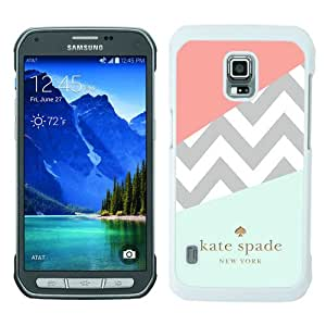 High Quality Samsung Galaxy S5 Active Skin Case ,Kate Spade 108 (2) White Samsung Galaxy S5 Active Screen Cover Case Popular And Unique Custom Designed Phone Case