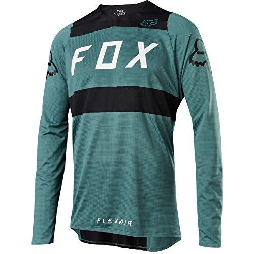 Fox Racing Flexair DH Jersey - Men's Green/Black, M (Flexair Jerseys)