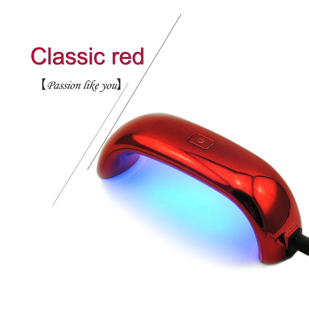 Fashion Gallery USB 9W LED Light Lamp Gel Nail Polish Nail Dryer Led Rainbow UV Lamp For Manicure Nail Art Tools (Black)