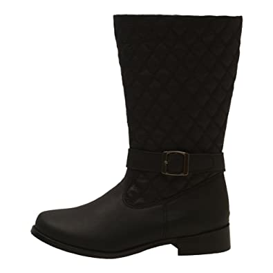 4df19f76eb8 Amazon.com | L'Amour Little Girls Black Quilted Buckle Fashion Tall ...