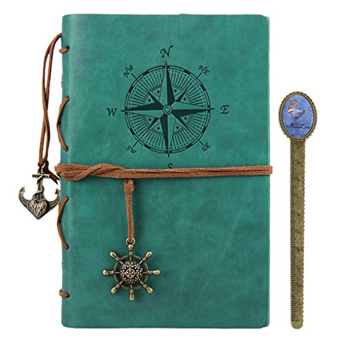 (Leather Notebook Journal Refillable Travel Journal with a Bookmark Hand-Crafted Genuine Leather Perfect Gift for Men or Women, Writing, Poets, Travelers, as a Diary )