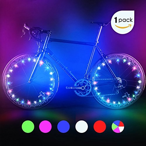 Bodyguard Bike Wheel Lights - Auto Open and Close - Ultra Bright LED - Bike Wheel Spoke/Light String (1 pack) - Colorful Bicycle Tire Accessories- Waterproof (Led Spoke Light)
