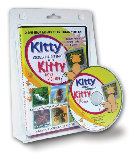 (Pet Qwerks Kitty Movie Entertainment DVD for Cats)