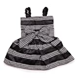 East Side Collection Polyester The First Lady Gingham Dog Dress, XX-Small, 8-Inch, Black, My Pet Supplies