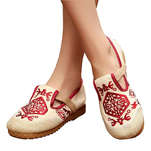 AvaCostume Womens Embroidery Fashion Loafer