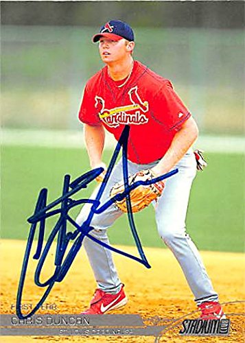 Autograph 123394 St Louis Cardinals Ft 2002 Topps Stadium Club No. 116 Chris Duncan Autographed Baseball Card ()