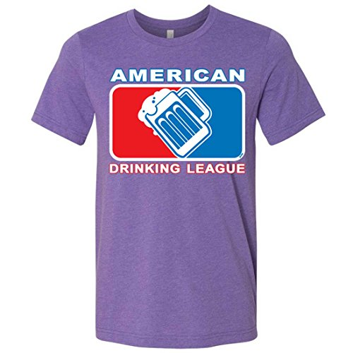(American Drinking League USA Mens Lightweight Fitted T-Shirt/tee - Heather Team Purple 3X-Large)