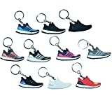 NIS Industries Mini Sneaker Keychains - Rare Air Packs - Rubber/Silicone 2D Retro Sneakers Basketball Shoe Keychains - Perfect Sneakerhead Gift Idea (Classic Boost)