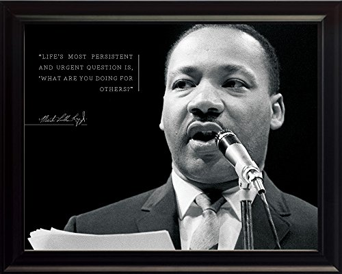 Martin Luther King Jr Photo Picture Poster Framed Quote