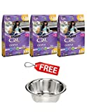 Purina Cat Chow Gentle Dry Cat Food 13 lb. Bag PACK of 3 with FREE Stainless Steel Bowl