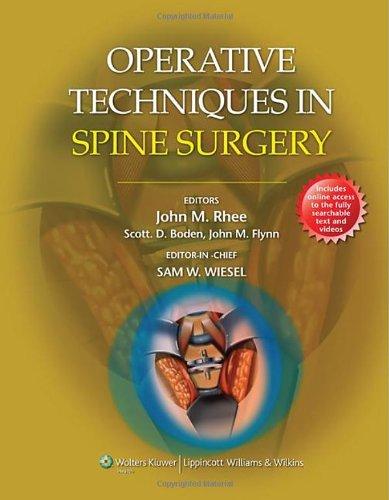 Operative Techniques in Spine - Boden Usa Sale