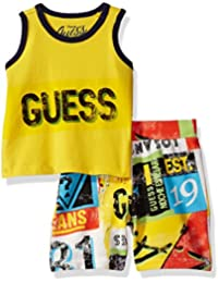 GUESS Baby Boys' Set-Tank T-Shirt + Printed Short Pant