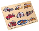 : Wooden Transportation 9-piece Peg Puzzle