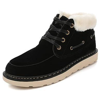 Juqilu Herren Sneakers Winter Schuhe Stiefel Plüsch