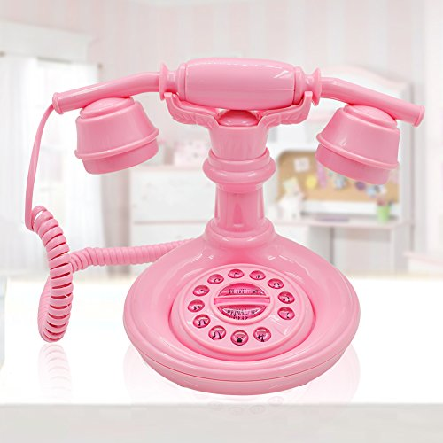 IRISVO Pink Push Button Telephone Kids Functional