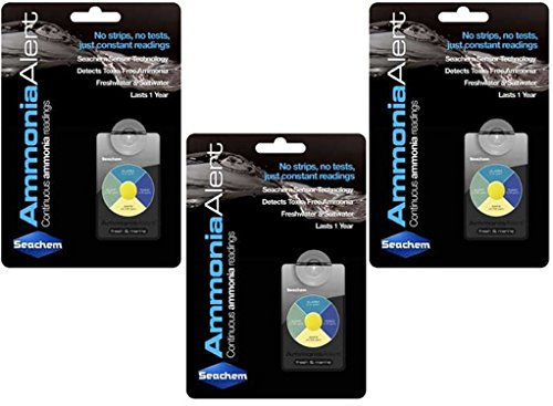 (3 Pack) Seachem Ammonia Alert 1 Year Monitor by Seachem