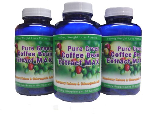 Pure Green Coffee Bean Extract Max ~ Strongest Diet Pill ~ 910mg Weight Loss Formula ~ Green Coffee Bean Extract 800mg ~ 100mg Raspberry Ketones ~ Downloadable FOOD JOURNAL Included ~ Contains up to 45% to 50% Chlorogenic Acid ~ 3 Month Supply by Diet Health Solutions (Image #6)