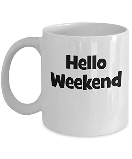 Amazon Hello Weekend Mug