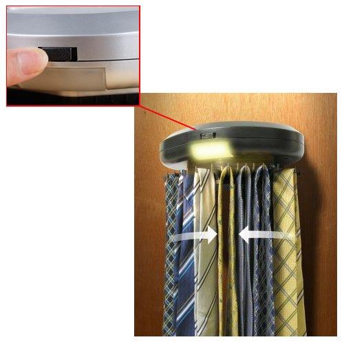 Kikar Electric Motorised Tie Rack Wall Mounted Tie Belt