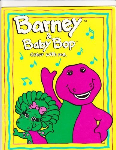 barney and baby bop coloring book lyons group 9780782901856 amazoncom books - Barney Coloring Book