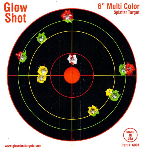 60 Pack – 6″ Reactive Splatter Targets – GlowShot – Multi Color – See Your Hits Instantly – Gun and Rifle Targets – Glow Shot – Seach Glowshot for all our 6″, 8″ and 10″ Packs, Outdoor Stuffs
