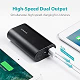Portable Charger with the Longest Battery Life, ROMOSS 10000mAh Aluminum Power Bank 2-Port 4.8A Max Output, External Battery Packs with Type-C & Micro-USB Input for iPhone, iPad, Samsung and More