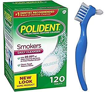amazon com polident smokers denture cleaner 120 tablets bundle