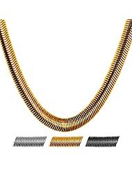 """Stainless Steel Snake Chain,8mm Wide,5 Sizes Necklace 18"""" 22"""" 26"""" 28"""" 30"""",Bracelet 8.3 Inches"""