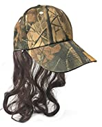 Camouflage Billy Ray Hat with Brown Hair! Bed Head, Don't Care! Now You Have The Perfect Hat to Cover The Mess Even in The Deer Stand!