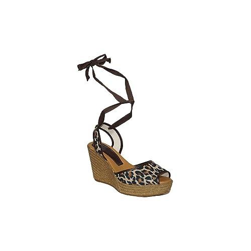 Cuerda Shoes Tobillo Leopardo Sandalia Ps120 Primar Cuña Mujer DI29WEHY