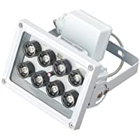 OKEBA DC 12V 8 LED ARRAY light control Night Vision IR Infrared Illuminator Light For CCTV Camera Cam- White