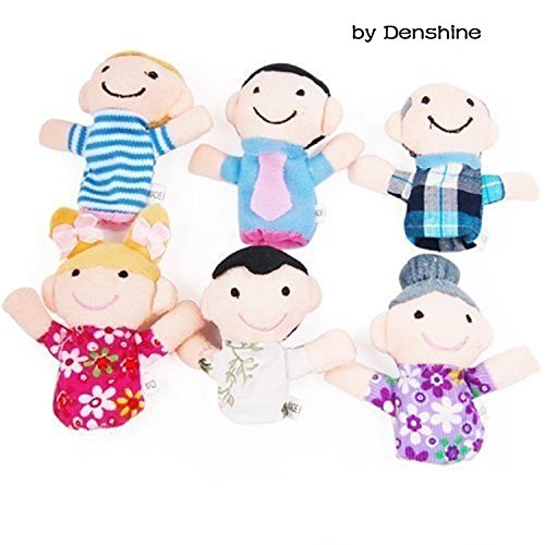 Denshine® 6 Pcs Family Finger Puppets