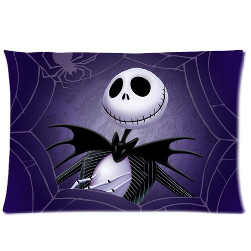 Bikini bag Home Bedroom Decor Custom Nightmare Before Christmas Pillowcase Soft Zippered Throw Cushion Case Covers Fasfion Design Two Sides Printed 20x30 Pillows ()