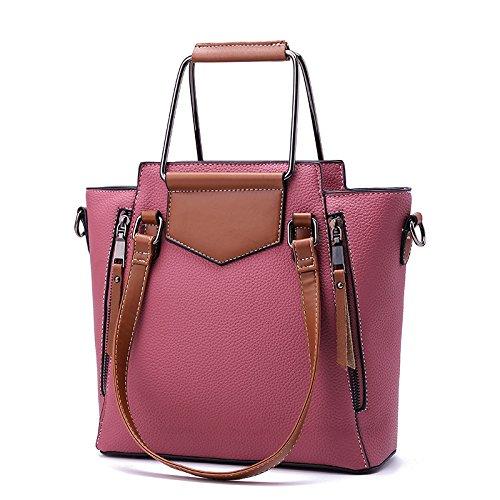 Spalla Mano Dell'annata Rosa Casuale Moda Donna Grande Borsa Commerciale Capacità PEq7WgI4