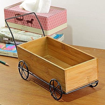 Su @ da creativo de madera remolque caja de madera caja de almacenamiento de decoración para el hogar retro color: Amazon.es: Hogar