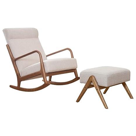 HYYTY-Y Sillón Individual de sofá de Madera Maciza, sillón ...