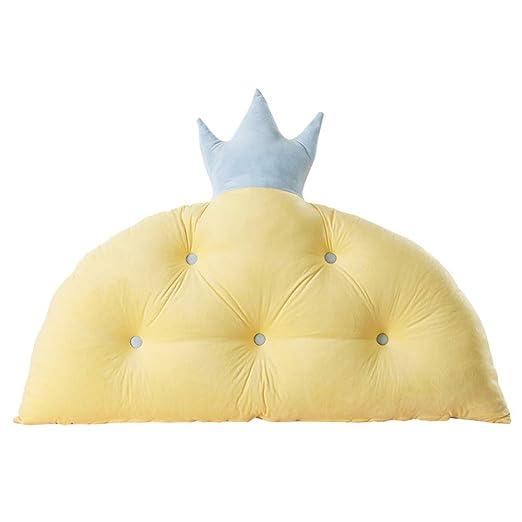 Kaozhen Cojín de la almohada de la princesa de la corona almohada ins net red back de los niños cama grande cabecero paquete suave cama cojín de la ...