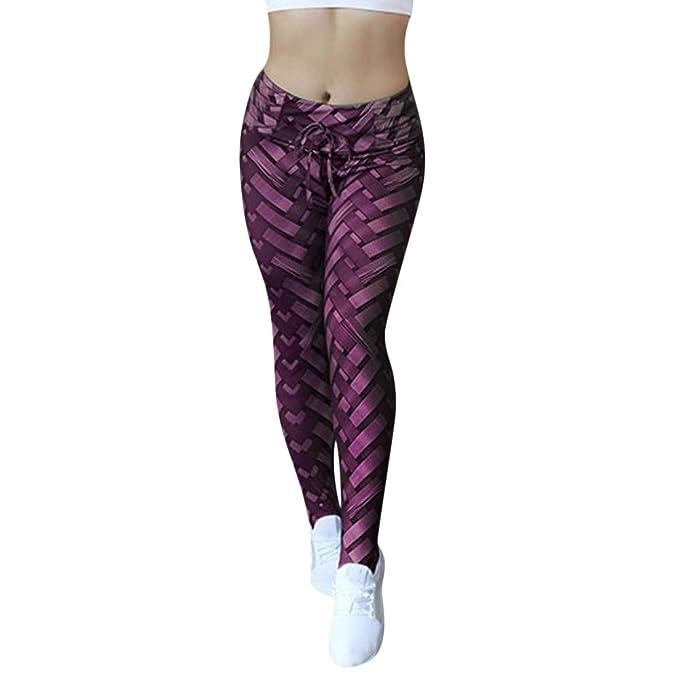 Pantalones de Yoga Impresos Tejidos para Mujeres Yoga Sports Fitness Pants Hips Hip Yoga Mujeres Cintura Alta Yoga ala geométrica Imprimir Legging Correr ...
