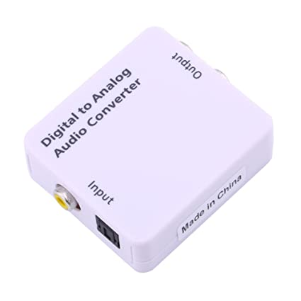 Digital to Analog Audio Converter Adapter RCA L/R +Cable Optical Coaxial Toslink Signal