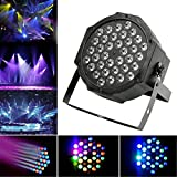 JUDYelc Par Lights with RGBW Celebration Lighting - Stage Flashing with 4 Work Models Super Bright Stage Lamp for DJ Club Wedding Family Party Disco (36 Leds)