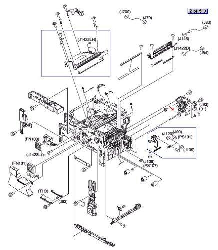 Amazon Com Hp Laserjet 4345 Ru5 0256 000cn Gear 23t Computers