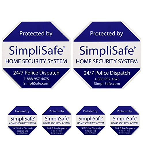 simplisafe 2 Home Security Yard Signs and 4 Security Stickers Decals For Doors And ()